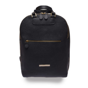 Agatha backpack – black and gold - detail