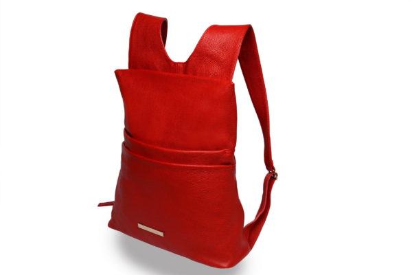 Lola – laptop backpack – red - detail