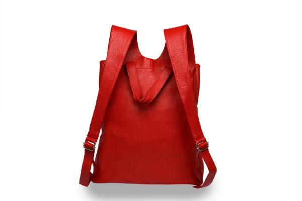 Lola – laptop backpack – red - back