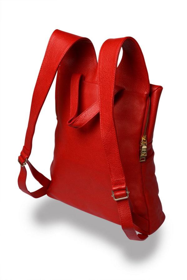 Lola – laptop backpack – red - side detail