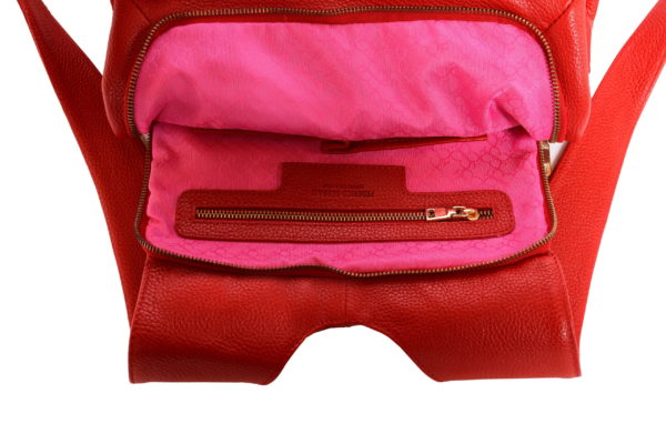 Lola – laptop backpack – red - detail interior